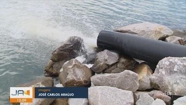 Obra de despoluição da Beira-Mar Norte em Florianópolis entra em fase de testes - Obra de despoluição da Beira-Mar Norte em Florianópolis entra em fase de testes
