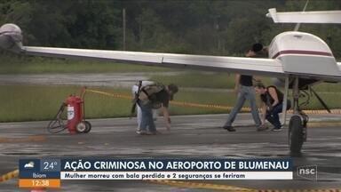 Assalto em aeroporto com bandidos armados com fuzis deixa uma pessoa morta em Blumenau - Assalto em aeroporto com bandidos armados com fuzis deixa uma pessoa morta em Blumenau