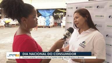 Procon RR promove ação para conscientizar lojistas e consumidores em Boa Vista - Nesta sexta (15) é celebrado o Dia Internacional do Consumidor.