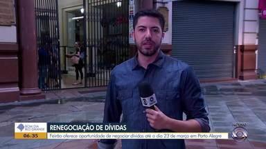 Começa nesta segunda-feira (18) em Porto Alegre um feirão de renegociação de dívidas - Evento acontece até o dia 23 de março.