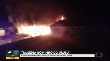 Funcionário do Ninho do Urubu diz que ar teve curto e pegou fogo 2 dias antes da tragédia - Monitor afirmou que ar-condicionado de alojamento da base teve curto circuito e pegou fogo dois dias antes da tragédia que matou 10 adolescentes.