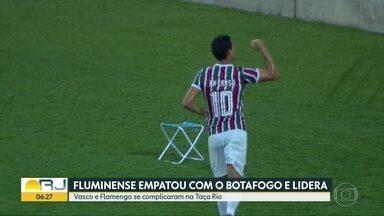 Flu empatou com Botafogo e lidera - Vasco e Flamengo se complicaram na Taça Rio.