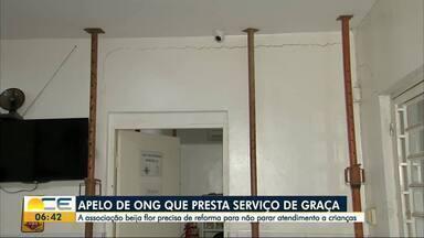 Associação Beija Flor precisa de ajuda para não interromper atendimento - Prédio da ONG está com rachaduras e diretores pedem ajuda para fazer reforma.