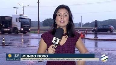 Menina morre com tiro na cabeça disparado pela arma do pai em MS - Caso aconteceu em Mundo Novo, região sul de Mato Grosso do Sul.