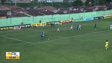 Fora de casa, CSA empata com o Coruripe e fica em segundo na primeira fase do Alagoano - Jogo terminou 1 a 1 no Estádio Gerson Amaral