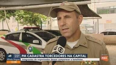 Polícia Militar começa a cadastrar integrantes de torcidas organizadas em Florianópolis - Polícia Militar começa a cadastrar integrantes de torcidas organizadas em Florianópolis