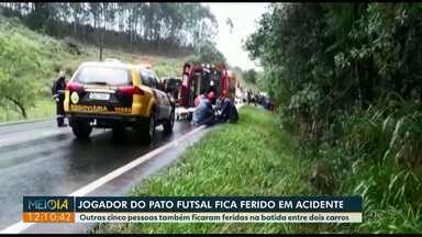 Acidente envolvendo jogador de futsal deixa seis feridos no sudoeste do Paraná - O jogador já recebeu alta e se recupera em casa. As outras vítimas continuam internadas no hospital, em Pato Branco.
