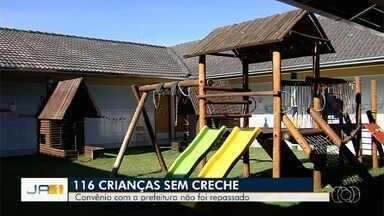 Creche filantrópica enfrenta dificuldades após atraso em repasses da Prefeitura de Goiânia - Creche Nossa Senhora de Nazaré atende mais de cem crianças.