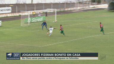 Rio Claro vence partida contra a Portuguesa pela Série A2 - Único gol do jogo saiu no final do 2º tempo.
