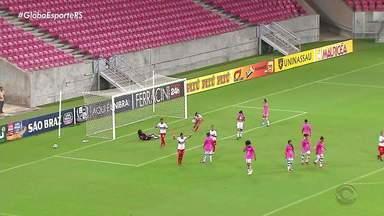 Time feminino do Inter vence Vitória de Pernambuco por 5 x 0 fora de casa no Brasileirão - Partida aconteceuna Arena Pernambuco.