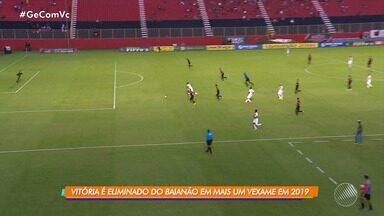 Vitória é derrotado pelo Flu de Feira e é eliminado do Campeonato Baiano - Veja os destaques da partida.