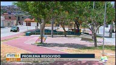 Prefeitura inaugura área de lazer no bairro Indianópólis - Desde de 2015, moradores reclamam que o bairro não tem praça pública.
