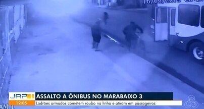 Dupla armada assalta ônibus e dispara tiros contra passageiros, em Macapá - Crime aconteceu sábado (16), no bairro Marabaixo 3, na Zona Oeste. Não houve feridos.