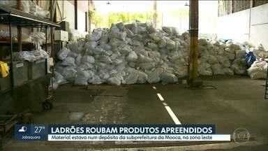 Ladrões roubam 60 toneladas de produtos falsificados em depósito da Prefeitura de SP - Vigia foi rendido e imagens de câmeras de segurança foram levadas pelos bandidos.