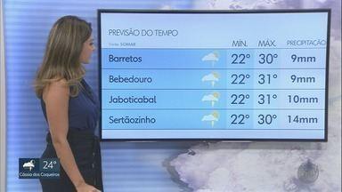 Veja a previsão do tempo para esta terça-feira na região de Ribeirão Preto, SP - Em cidades como Barrinha, chuva causou alagamentos nesta segunda-feira.