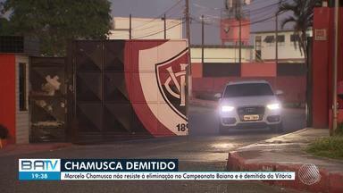 Futebol: Vitória demite o técnico Marcelo Chamusca - O clima foi eliminado no Campeonato Baiano após perder pro Fluminense de Feira por 2 a 0, em casa.