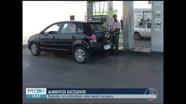 Aumento nos preços dos combustíveis prejudica movimento dos postos - Consumidores estão buscando alternativas para reduzir o impacto no bolso.