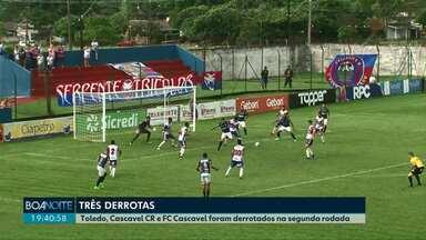 Toledo, Cascavel CR e FC Cascavel são derrotados na segunda rodada do Paranaense - Cascavel e Toledo estão na última colocação na tabela de classificação.
