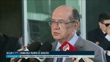 Ministro Gilmar Mendes manda soltar o contador da família Richa - Ministro ainda deu um salvo-conduto a Dirceu Pupo e à família Richa.