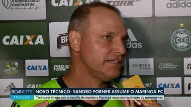 Sandro Forner é o novo treinador do Maringá FC - Forner entra no lugar de Antônio Picoli, dispensado pela diretoria do clube após derrota para o Athetico