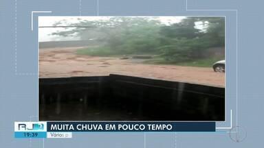 Chuva alaga vários pontos do distrito de Glicério, em Macaé - Assista a seguir.