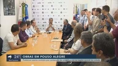 Prefeitura assina contrato de R$ 15,9 milhões para obras contra enchentes em Pouso Alegre - Prefeitura assina contrato de R$ 15,9 milhões para obras contra enchentes em Pouso Alegre, MG