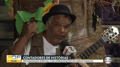 Brasília tem programação com contadores de histórias - De hoje (21) até sábado (23) tem programação de graça na Embaixada de Portugal, Câmara dos Deputados e em Taguatinga. São quase 100 artistas reunidos para comemorar o dia Internacional do Contador de Histórias.