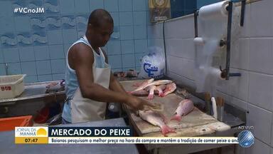 JM na Feira: confira a variação de preço do peixe em Salvador - Baianos pesquisam o melhor preço na hora da compra.