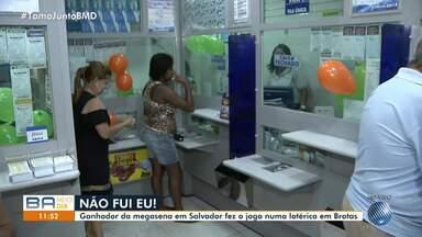 Mega-Sena: aposta vencedora foi feita em lotérica no bairro de Brotas, em Salvador - Prêmio ainda não foi resgatado pelo vencedor.