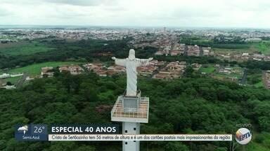 Especial EPTV 40 anos homenageia Cristo de Sertãozinho - Com 56 metros de altura, estrutura é um dos cartões postais mais impressionantes da região.