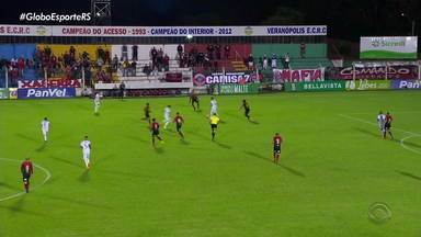 Brasil de Pelotas e Veranópolis ficam no empate - Assista ao vídeo.