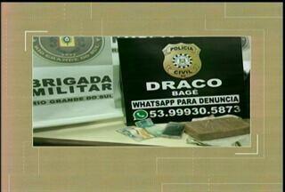 Cerca de 1 kg de crack foi apreendido na rodoviária de Bagé, RS - A droga estava com uma mulher que viajava no ônibus que faz a linha Porto Alegre x Bagé.
