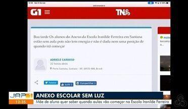 Tô na Rede: mãe de aluno quer saber quando aulas vão começar na Escola Iranilde Ferreira - Relato foi registrado pelo aplicativo da Rede Amazônica.