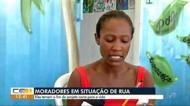 Moradores em situação de rua teme fim do projeto 'Corre pra Vida' - Outras informações no g1.com.br/ce