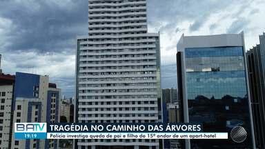 Polícia investiga causas da morte de pai e filho encontrados mortos em hotel em Salvador - O caso aconteceu no bairro do Caminho das Árvores, em Salvador.