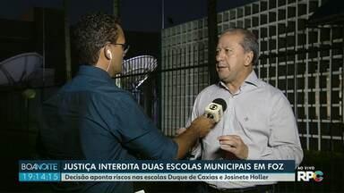 Justiça determina interdição de duas escolas de Foz do Iguaçu - Decisão aponta riscos estruturais nas escolas Duque de Caxias e Josinete Holler.