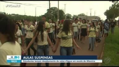 Estudantes protestam contra as péssimas condições de escola estadual em Altamira - Jornal Liberal