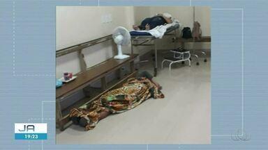Fotos mostram pessoas dormindo no chão em hospital de Augustinópolis - Fotos mostram pessoas dormindo no chão em hospital de Augustinópolis