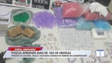 Políca apreende mais de 1kg de drogas - Porções de cocaína, crack e maconha estavam em terreno em Guará.