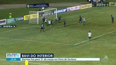 Vitória da Conquista empata com o Bahia de Feira na partida de ida da semifinal do Baianão - A partida aconteceu no Estádio Lomanto Júnior.
