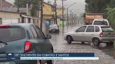 Chuva causa transtornos para moradores de Cubatão - Moradores reclamam dos constantes prejuízos.