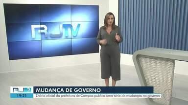 Diário Oficial de Campos publica série de mudanças no governo municipal - Assista a seguir.