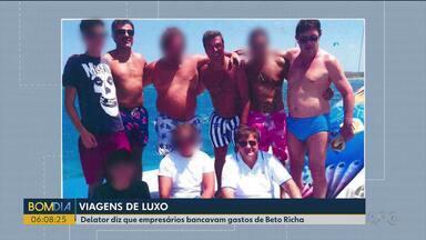 Delator diz que empresários bancavam gastos de Beto Richa - O ex-governador aparece em fotos com empresários que tem contratos milionários com o estado.