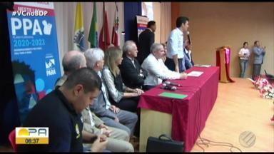 Em Santarém, Governo do Estado realiza audiência - Plano Plurianual foi tema de audiência com Governo itinerante que estabeleceu Santarém como a sede temporária do poder estadual.