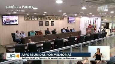 Em busca de melhorias, APPs se reúnem na Câmara de Vereadores de Blumenau - Em busca de melhorias, APPs se reúnem na Câmara de Vereadores de Blumenau