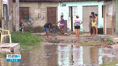Loteamento em Nossa Senhora do Socorro sofre com as chuvas - Falta de estrutura na região é problema neste período chuvoso.