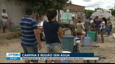 Desabastecimento de água em Campina Grande e região já dura 8 dias - Abastecimento só deve voltar ao normal na próxima terça-feira.