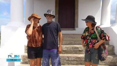 Capela da Guia, em Cabo Frio, é reinaugurada, mas não abriu as portas neste sábado (23) - Assista a seguir.