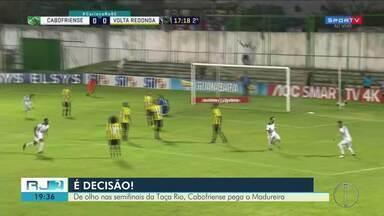 De olho nas semifinais da Taça Rio, Cabofriense pega o Madureira - Assista a seguir.