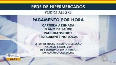 Veja vagas de emprego para operadores de caixa em rede de hipermercados em Porto Alegre - Confira a oportunidade.